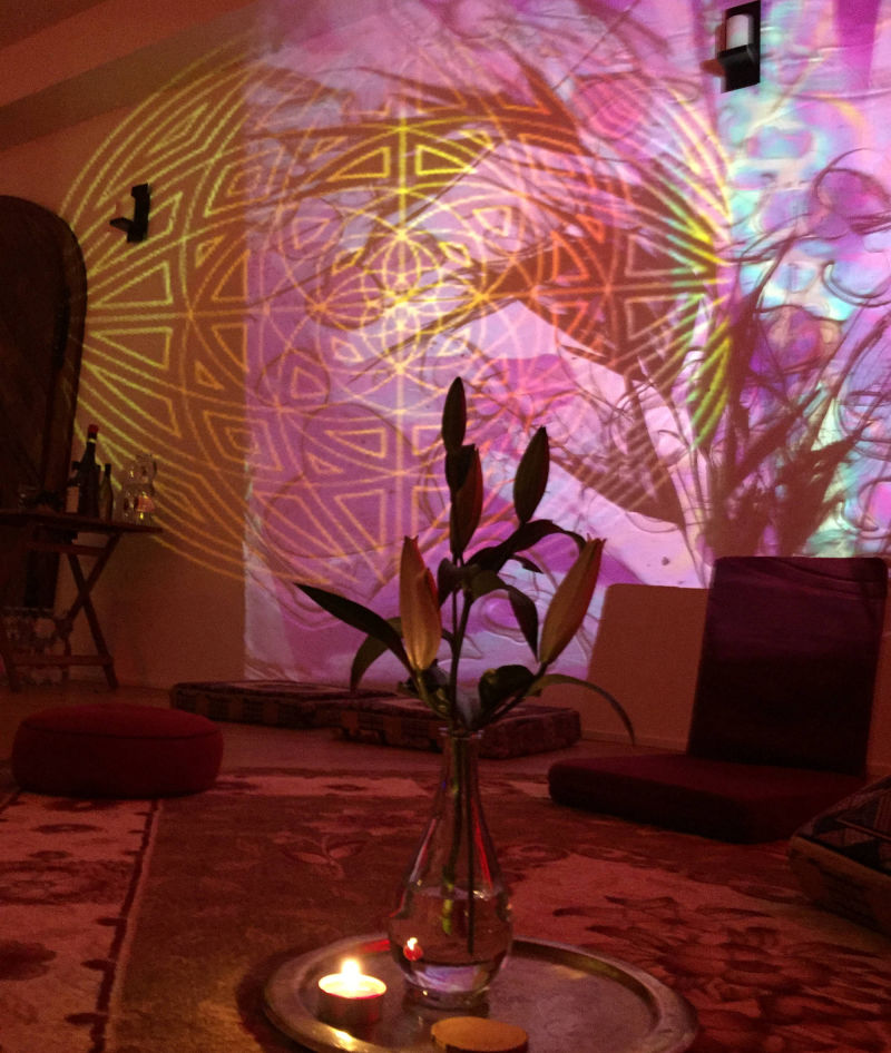 Mandali, retreat, projections, judocus, italy, 2018, visuals, slidesinmotion, centre
